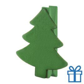 Kerst clip rendier groen bedrukken