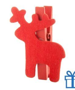 Kerst clip rendier rood bedrukken