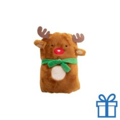 Kerst deken kerstman bruin bedrukken