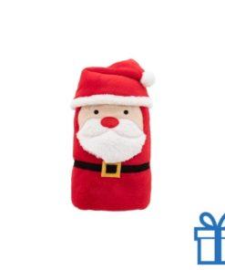 Kerst deken kerstman rood bedrukken
