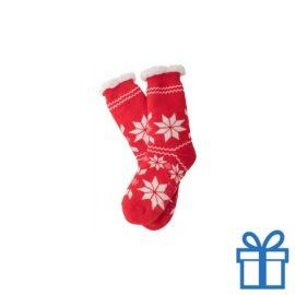 Kerst sokken anti slip bedrukken