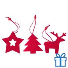 Kerstboomhanger decoratie 3 stuks bedrukken