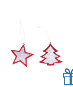 Kerstboomhanger non woven set van 2 bedrukken