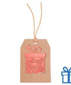 Kerstkaart hanger cadeau bedrukken