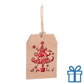 Kerstkaart hanger kerstboom bedrukken