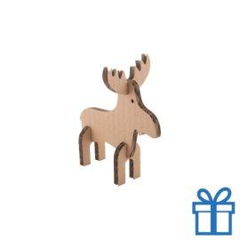 Kerstkaart puzzel rendier bedrukken