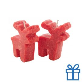 Kerstmis kaarsen rendier 2 stuks bedrukken