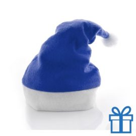 Kerstmuts klassiek blauw bedrukken