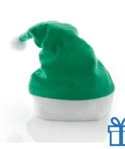 Kerstmuts klassiek groen bedrukken