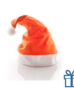 Kerstmuts klassiek oranje bedrukken