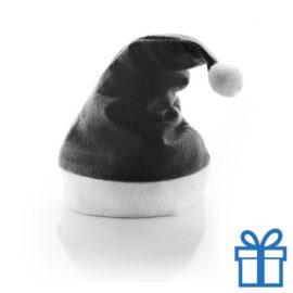 Kerstmuts klassiek zwart bedrukken