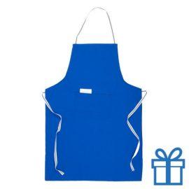 Keukenschort buidel blauw bedrukken