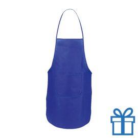 Keukenschort voorvak blauw bedrukken