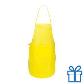 Keukenschort voorvak geel bedrukken