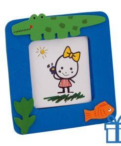 Kinder fotolijstje hout blauw bedrukken