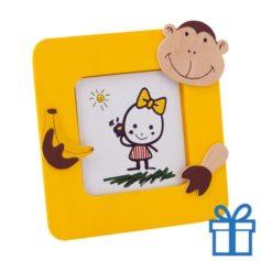 Kinder fotolijstje hout geel bedrukken