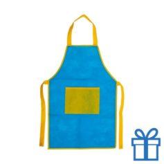 Kinder keukenschort blauw  bedrukken