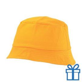 Kinder pet katoen geel bedrukken