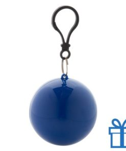 Kinderponcho sleutelhanger blauw bedrukken