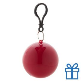 Kinderponcho sleutelhanger rood bedrukken