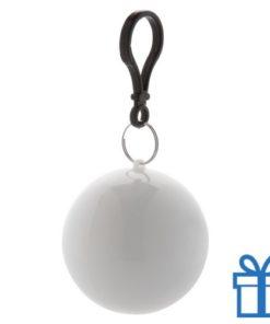 Kinderponcho sleutelhanger wit bedrukken