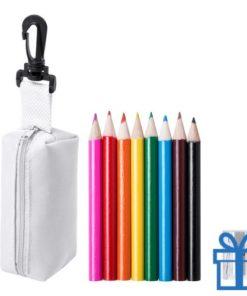 Kleurpotloden set in etui wit bedrukken