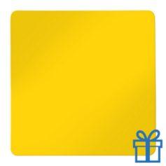Koelkastmagneetvierkant geel bedrukken