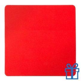Koelkastmagneetvierkant rood bedrukken