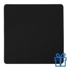 Koelkastmagneetvierkant zwart bedrukken