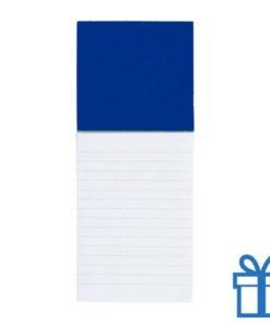 Koelkastmagnetisch notitieblok blauw bedrukken