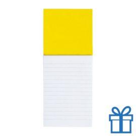 Koelkastmagnetisch notitieblok geel bedrukken