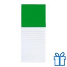 Koelkastmagnetisch notitieblok groen bedrukken