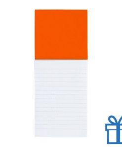 Koelkastmagnetisch notitieblok oranje bedrukken