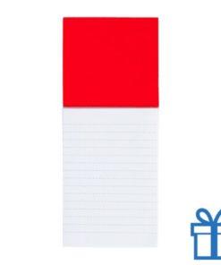 Koelkastmagnetisch notitieblok rood bedrukken
