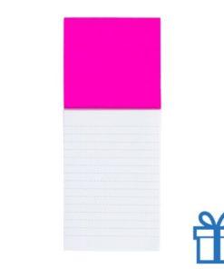 Koelkastmagnetisch notitieblok roze bedrukken