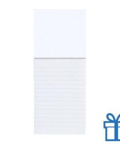 Koelkastmagnetisch notitieblok wit bedrukken