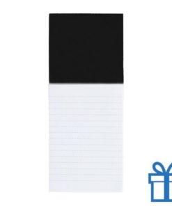 Koelkastmagnetisch notitieblok zwart bedrukken
