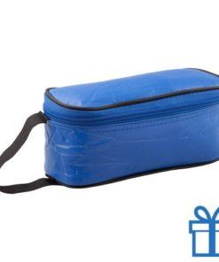 Koeltas rechhoekig blauw bedrukken