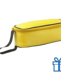 Koeltas rechhoekig geel bedrukken