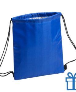 Koeltas rugtasje schoolreis kinderen blauw bedrukken