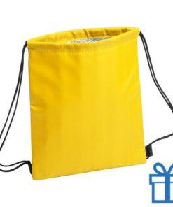 Koeltas rugtasje schoolreis kinderen geel bedrukken