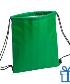 Koeltas rugtasje schoolreis kinderen groen bedrukken