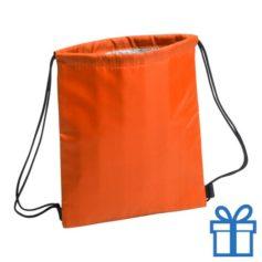 Koeltas rugtasje schoolreis kinderen oranje bedrukken