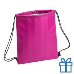 Koeltas rugtasje schoolreis kinderen roze bedrukken