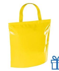 Koeltas strandtas geel bedrukken