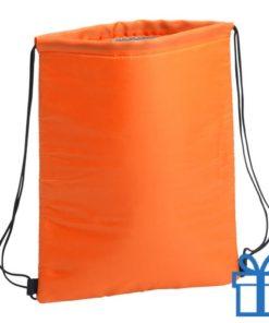 Koeltas trekkoord rugtasje oranje bedrukken