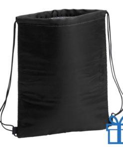 Koeltas trekkoord rugtasje zwart bedrukken