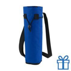Koeltas voor fles blauw bedrukken