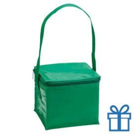 Koeltasje blikjes 4 groen bedrukken
