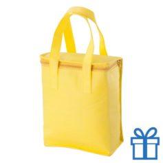 Koeltasje goedkoop geel bedrukken